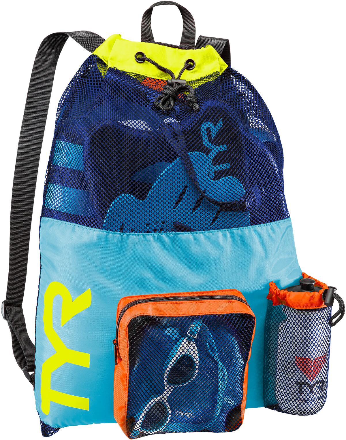 TYR Big Mesh Mummy Simryggsäck gul blå - till fenomenalt pris på ... f6ad91ee8ad2b
